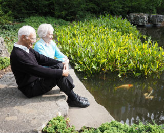 couple-looking-at-pond