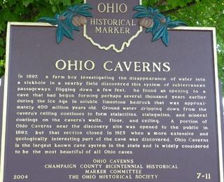 ohio caverns historical marker