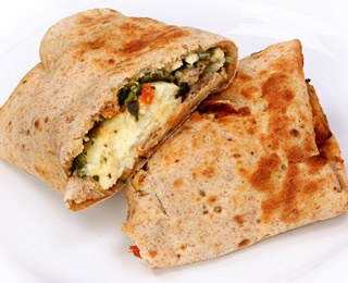 breakfast wrap sandwich