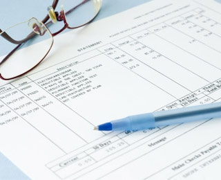 pen and tax forms