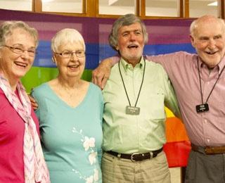 two senior women and two senior men