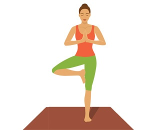 woman doing tree pose