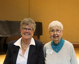 Tracey Lind, with friend and Kendal at Oberlin resident, Ardith Hayes