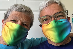 Ann - Nancy - rainbow masks -for blog
