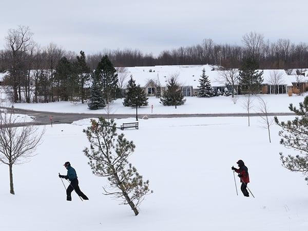 Winter cross county skiing