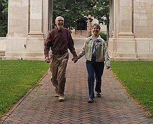 Kendal at Oberlin couple enjoying a walk.