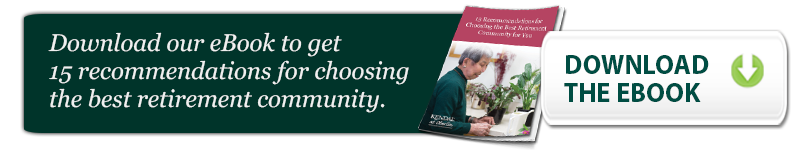 download 15 recommendations for choosing a retirement community